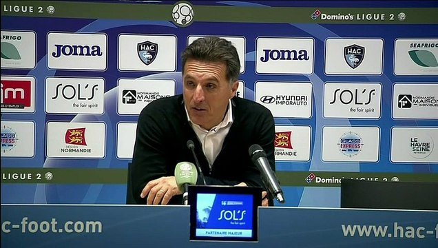 La réaction de Christophe Pelissier après Le Havre - Lorient (2-2) 19-20