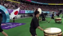 Japan and South Africa walk out to incredible noise