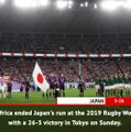 Fast Match Report - Japan 3-26 South Africa