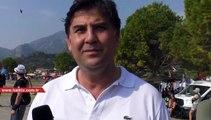 Fethiye Belediye Başkanı Karaca, gökyüzünde Türk Bayrağı açtı