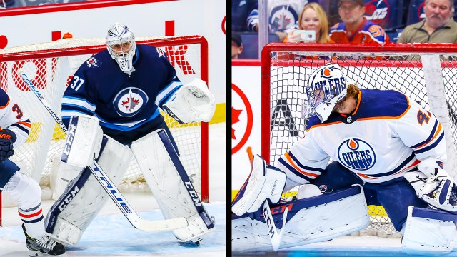 Mike Smith and Connor Hellebuyck have a goaltending duel in Winnipeg