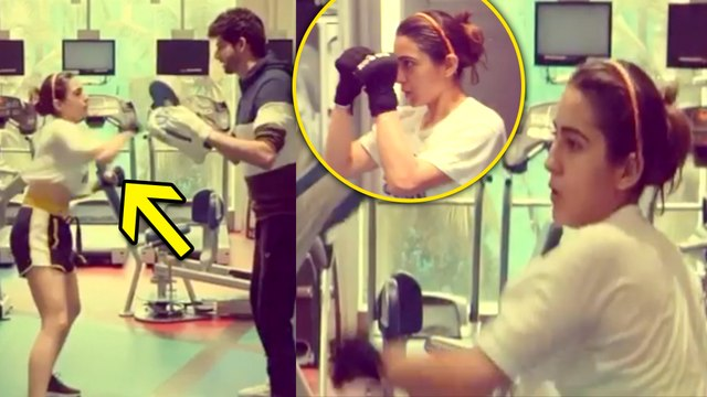 Sara Ali Khan's UNBELIEVEABLE Boxing WORKOUT Video In Her Gym
