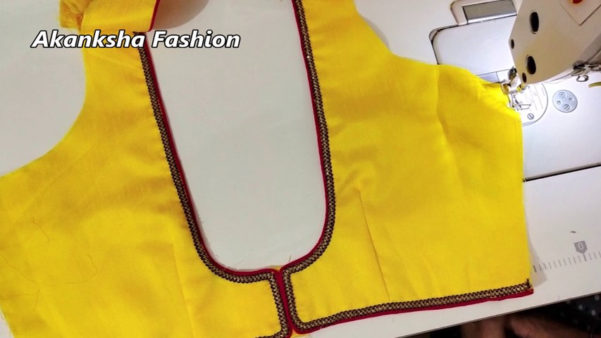 stitching of a beautiful blouse design of back neck 2019