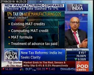 Eye On India: Economic Impact of Corporate Tax Cut