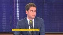 """Réforme du bac : """"L'objectif c'est de lutter contre le bachotage"""", affirme le secrétaire d'État Gabriel Attal"""
