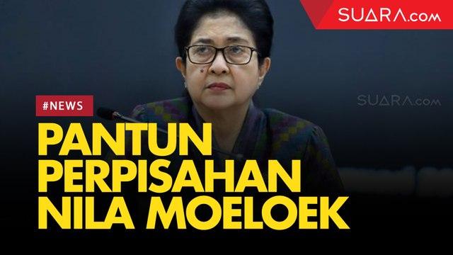 Perpisahan dengan Wartawan, Nila Moeloek Lempar Pantun