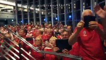 Rugby - 2019 World Cup - Welsh Fans Celebrating The Win Against France