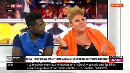 """Marianne James et Donel Jack mettent le feu sur le plateau de """"Morandini Live"""" et s'amusent à chambrer Jean-Marc Morandini - VIDEO"""