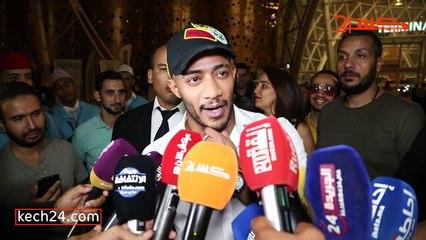 استقبال حافل للنجم المصري محمد رمضان بمراكش