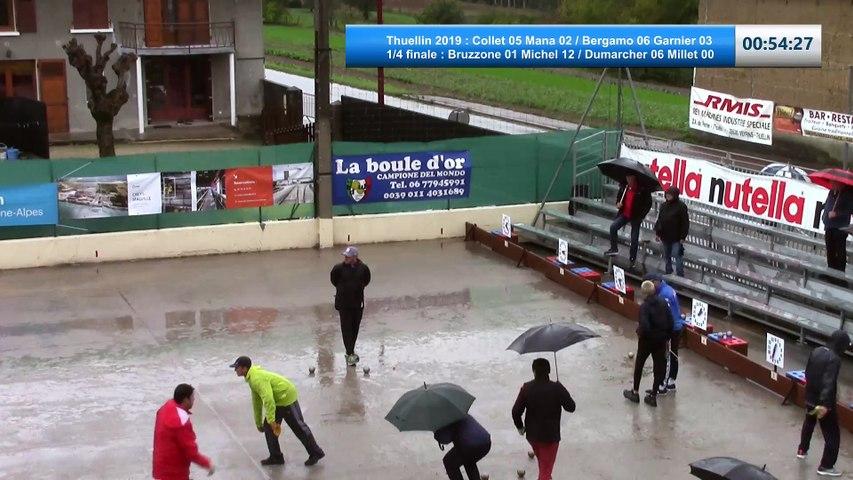 Quarts de finale, 69ème Challenge Roger Audi, Thuellin 2019