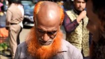 Au Bangladesh, les barbes orange font fureur