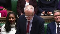 Corbyn comments on PM's absence from Commons