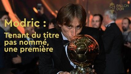 Ballon d'Or : Modric tenant du titre et pas nommé, une première