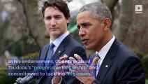 Barack Obama Endorses Justin Trudeau for Re-Election
