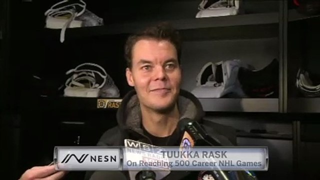 Tuukka Rask On What It Means To Reach 500 Career NHL Games