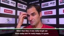 Federer delighted after landmark victory in hometown