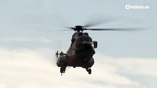 Llegan los helicópteros que transportarán el cadáver de Franco