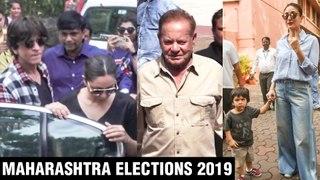 Shahrukh Khan - Gauri Khan, Kareena - Taimur, Rishi Kapoor Cast Vote | Maharashtra Elections 2019