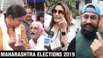 Maharashtra Elections 2019 | Aamir Khan, Madhuri Dixit, Smriti Irani Cast Vote