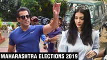 Salman Khan, Aishwarya Rai, Abhishek, Arjun Kapoor TOGETHER Cast Vote   Maharashtra Elections 2019