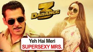 Salman Khan Calls Sonakshi Sinha SUPERSEXY WIFE | Dabangg 3 Trailer Grand Preparations