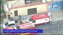 Una avioneta cae sobre una calle de Bello Horizonte (Brasil) poco después de despegar