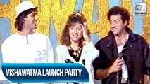 Sunny Deol & Divya Bharti At The Launch Party Of Their Movie Vishwatma | Flashback Video
