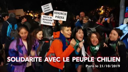 Solidarité avec le peuple Chilien en lutte