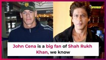 Wwe legend John Cena is as excited as you for Shah Rukh Khans ted talks  hollywood