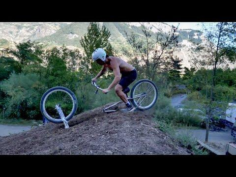 Bike's Wheel Comes Off When Guy Tries Backflip off Ramp