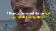 À Mayotte, Emmanuel Macron face au défi de l'immigration