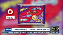 Comparing prices of Halloween candy