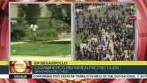 Fuerzas policiales reprimen movilización en Santiago de Chile