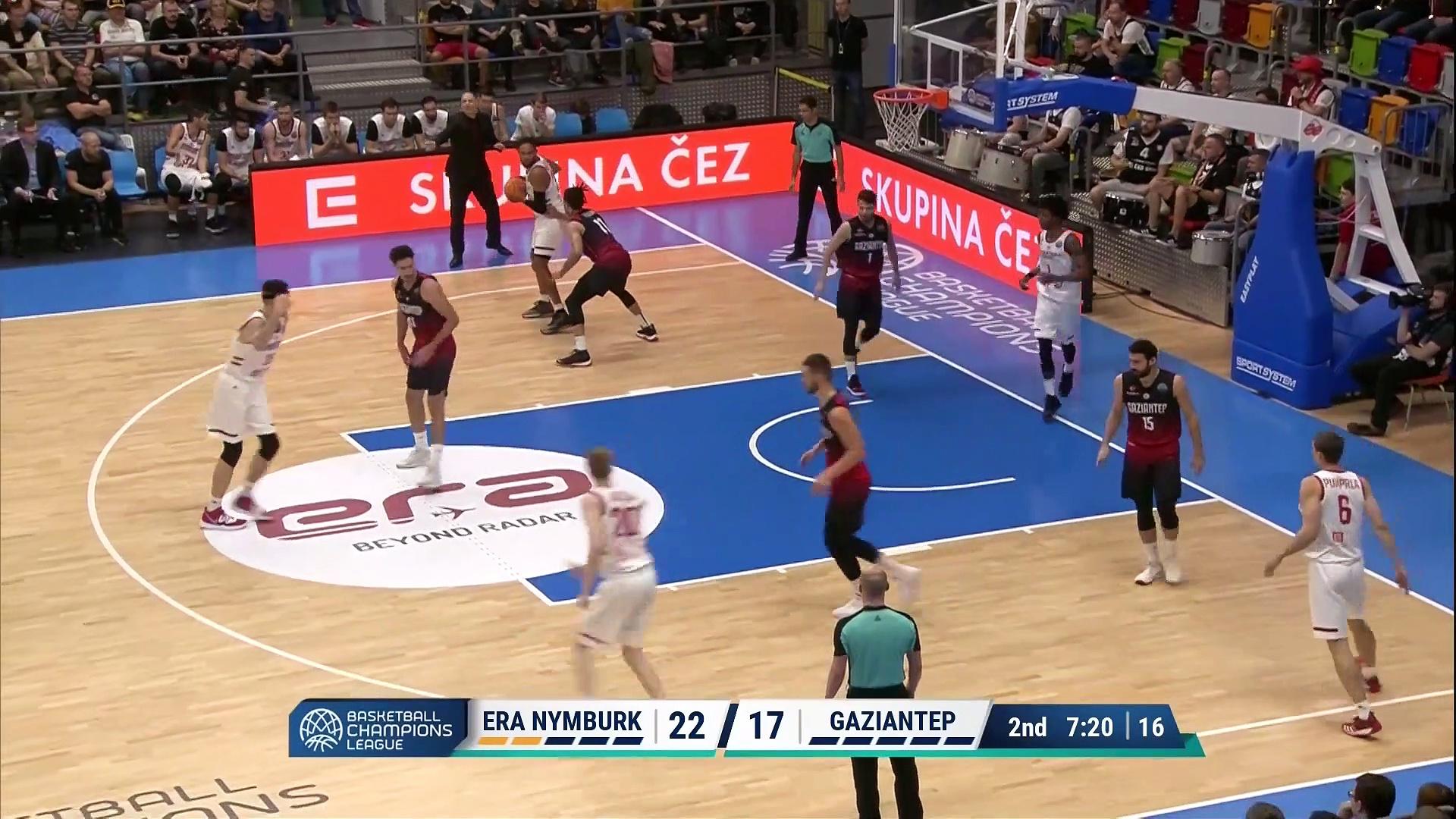 2. Hafta / ERA Nymburk - Gaziantep: 74-72 (Full Maç)