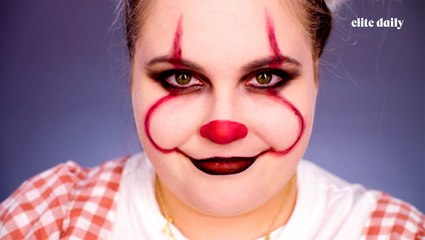 Ready in 5 Challenge: 'IT' Pennywise Halloween Makeup Tutorial