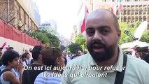 Liban : manifestation devant la banque centrale à Beyrouth (2)