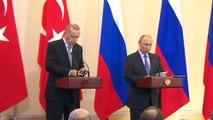 Erdoğan-Putin ortak basın toplantısı - Rusya Devlet Başkanı Vladimir Putin - SOÇİ