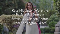 Kate Middleton Wore the Perfect Fall Dress in Previously Unseen Photos from Kensington Palace