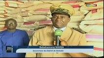 ORTM - Visite du gouverneur du district de Bamako dans certains magasins de riz importés