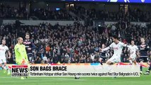 Tottenham Hotspur striker Son Heung-min scores twice against Red Star Belgrade in UCL