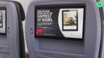 La eliminación de las pantallas de televisión en las aerolíneas