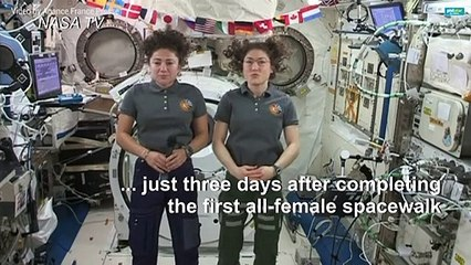 All-female spacewalk duo set sights on Moon