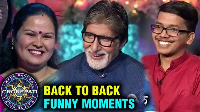 Amitabh Bachchan BACK TO BACK FUNNY SCENES | KBC | Kaun Banega Crorepati