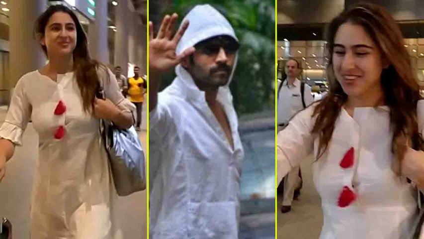 Sara Ali Khan returns to Mumbai after enjoying holiday in Sri Lanka; Watch video | FilmiBeat