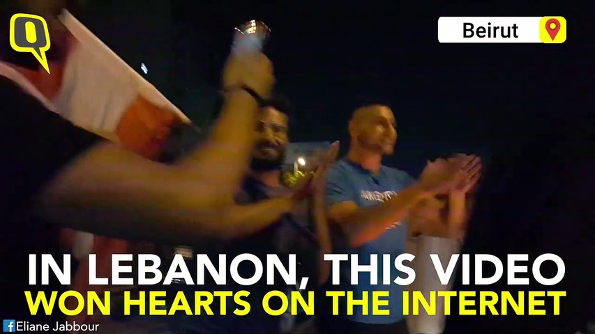 Lebanon Protesters Stop and Sing 'Baby Shark' for Scared Toddler