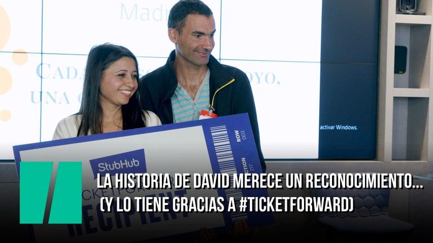 La historia de David merece un reconocimiento... (y lo tiene gracias a #TicketForward)