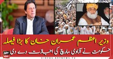 The government allowed JUI'f for Azadi march