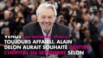 """Alain Delon """"affaibli"""" : l'acteur serait sorti de l'hôpital"""