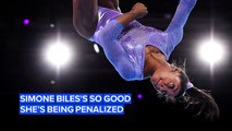 Why is Simone Biles's best move causing so much controversy?