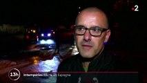 Intempéries : un homme mort et deux personnes portées disparues en Espagne